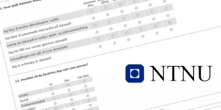 Spørreundersøkelse fra NTNU